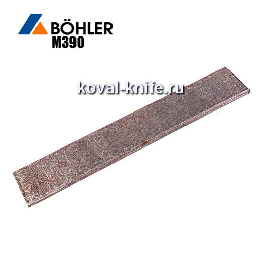 Заготовка из порошковой стали: M390 200х40х2,3мм.