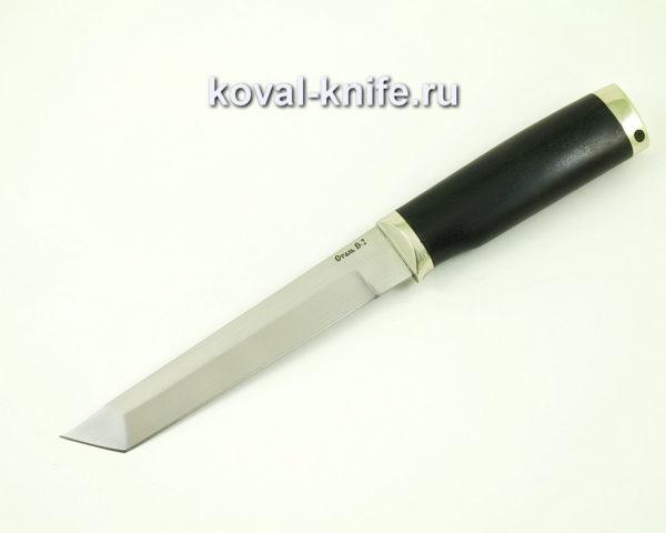 Нож Кобун из стали D2 с рукоятью из граба