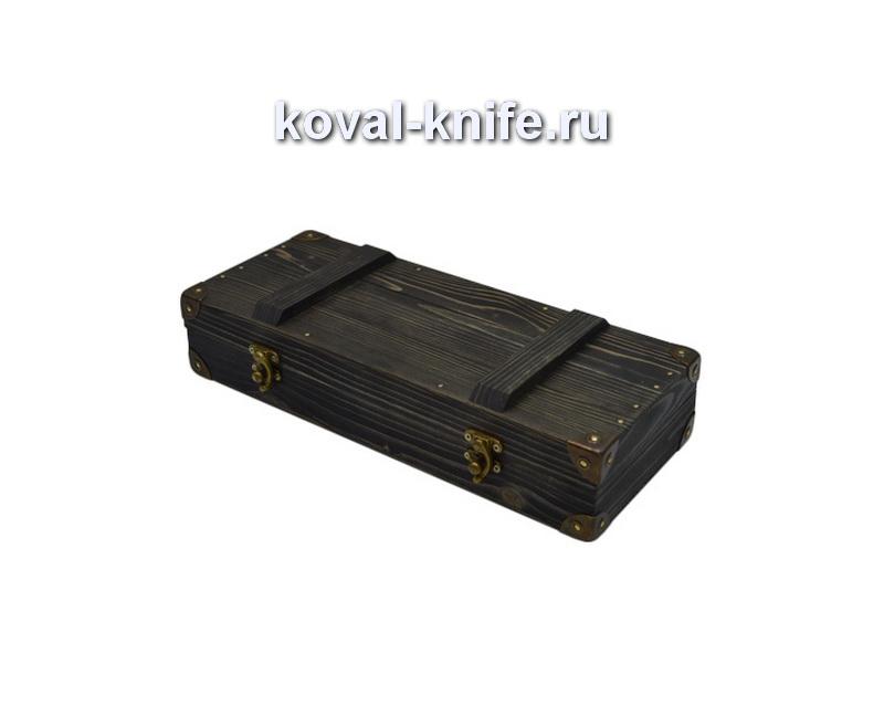 Шкатулка для ножа из сосны в стиле «Милитари»