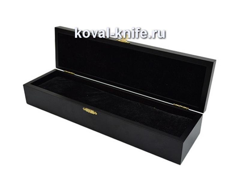 Шкатулка для ножа из березы чёрная