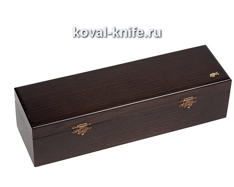 Шкатулка для ножа из дуба с двойным дном