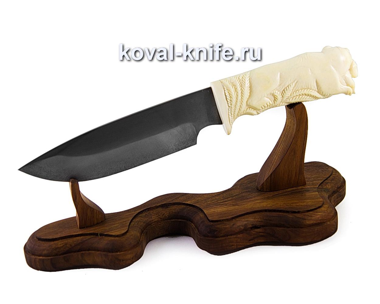 Нож из булатной стали Барс (рукоять с резьбой по кости) A365