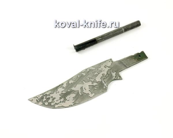 клинок для ножа Бекас из кованой стали 95х18 с травлением
