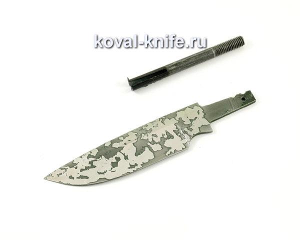 клинок для ножа Бигзод-мини из кованой стали 95х18 с травлением