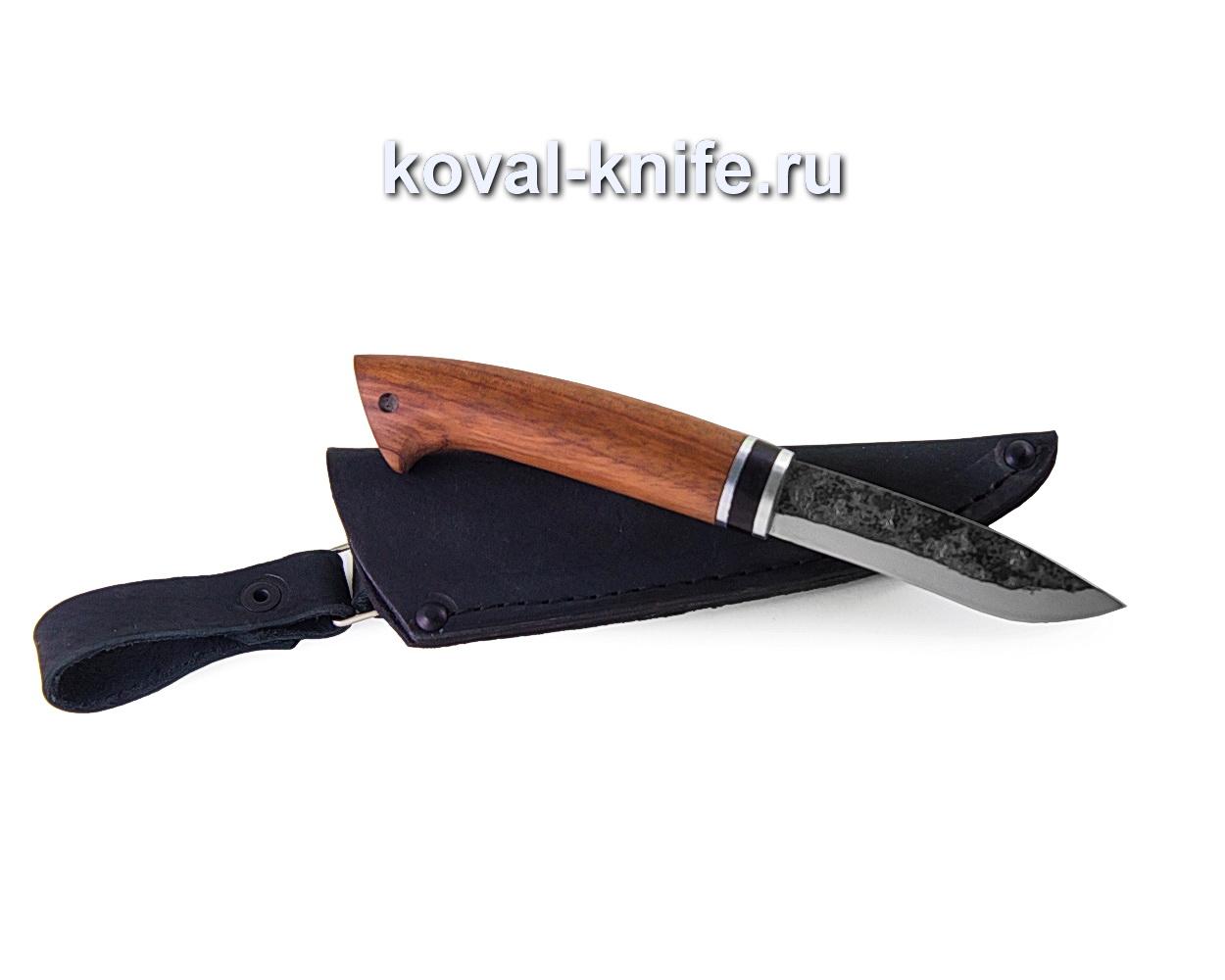 Нож Грибник из кованой стали 9хс (рукоять бубинга) A366