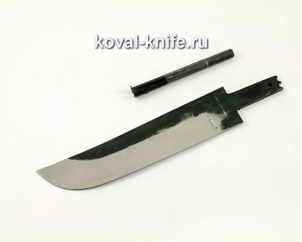 клинок для ножа Узбек из кованой стали 110х18 МШД