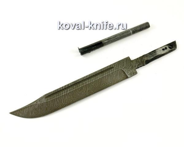 Клинок для ножа НР-40 из дамасской стали Штрафбат