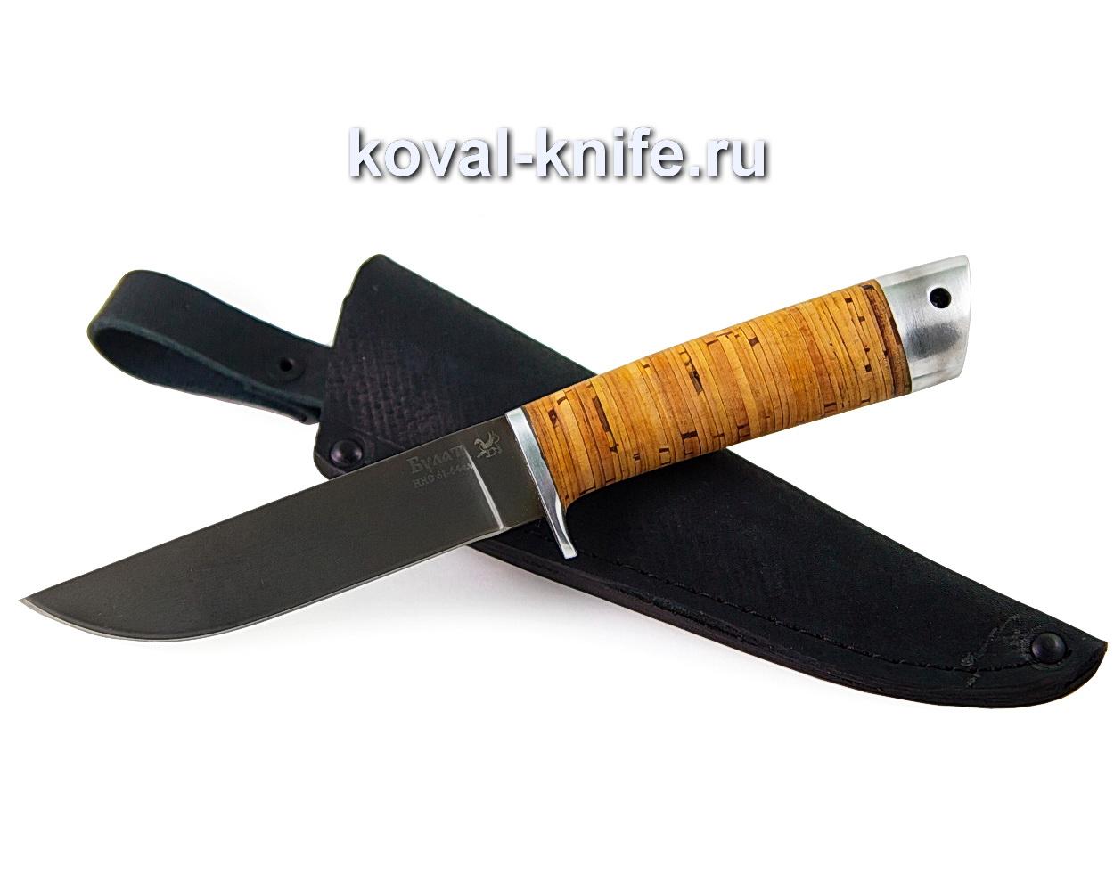Нож из булатной стали Белка (рукоять береста) A376