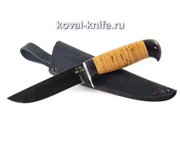 Нож Белка из кованой стали У10, рукоять береста