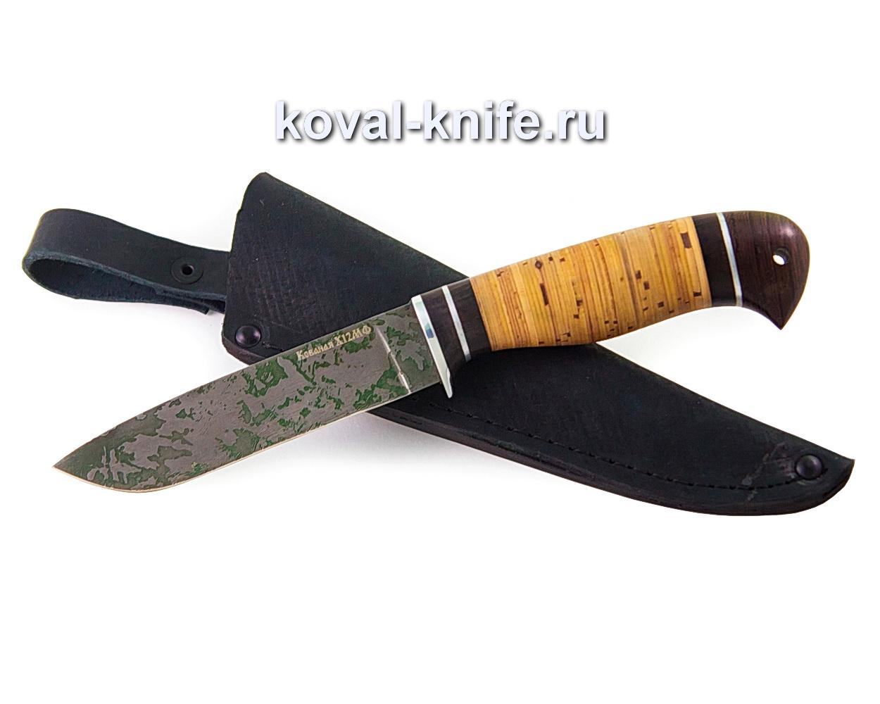 Нож Белка из стали х12мф (рукоять береста, венге) A354