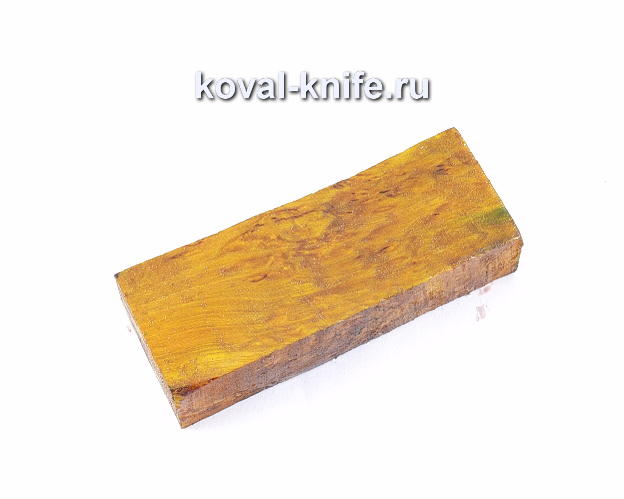Карельская береза стабилизированная для рукоятки ножа (желтая)
