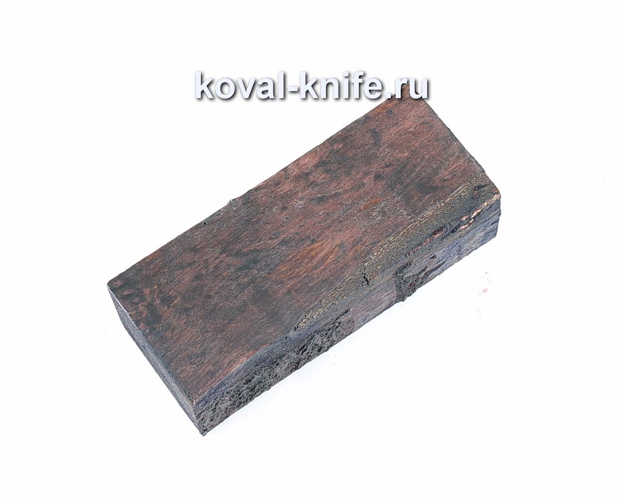 Карельская береза стабилизированная для рукоятки ножа (коричневая)