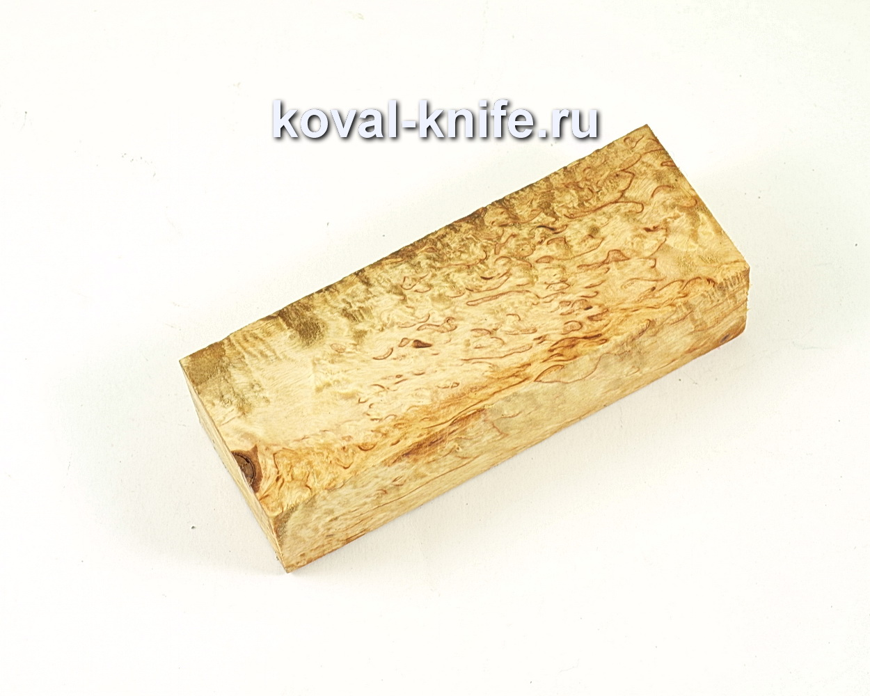 Карельская береза для рукоятки ножа (брусок)