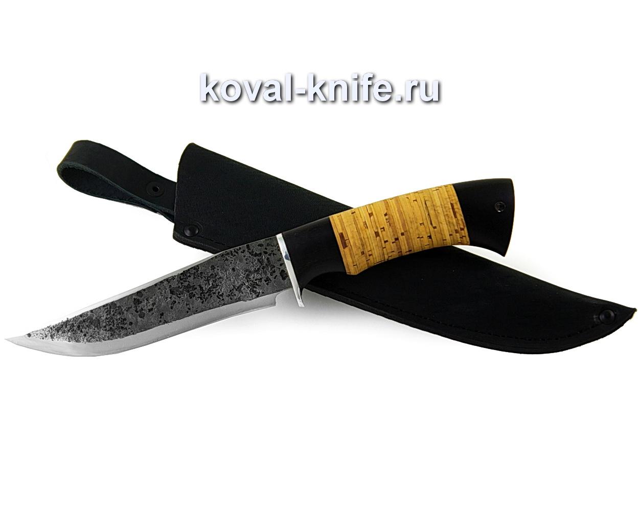 Нож Клыч из кованой стали 9хс (рукоять береста и граб) A371