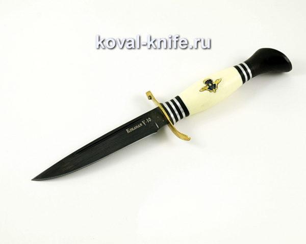 Нож Финка НКВД со знаком ВДВ из углеродки