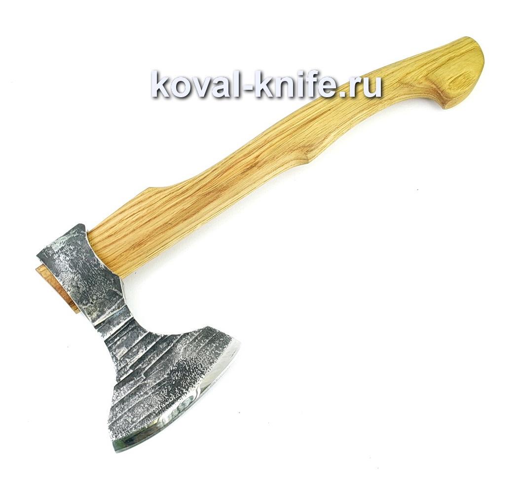Топор ручной ковки из стали 9хс (рукоять орех) A434