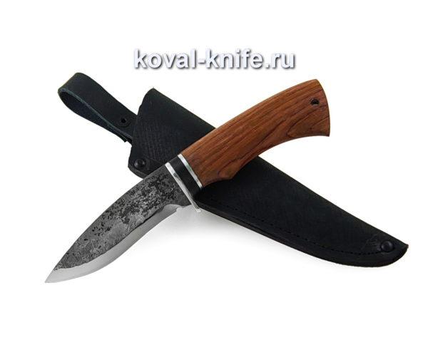 Нож из кованой стали 9хс рукоять орех