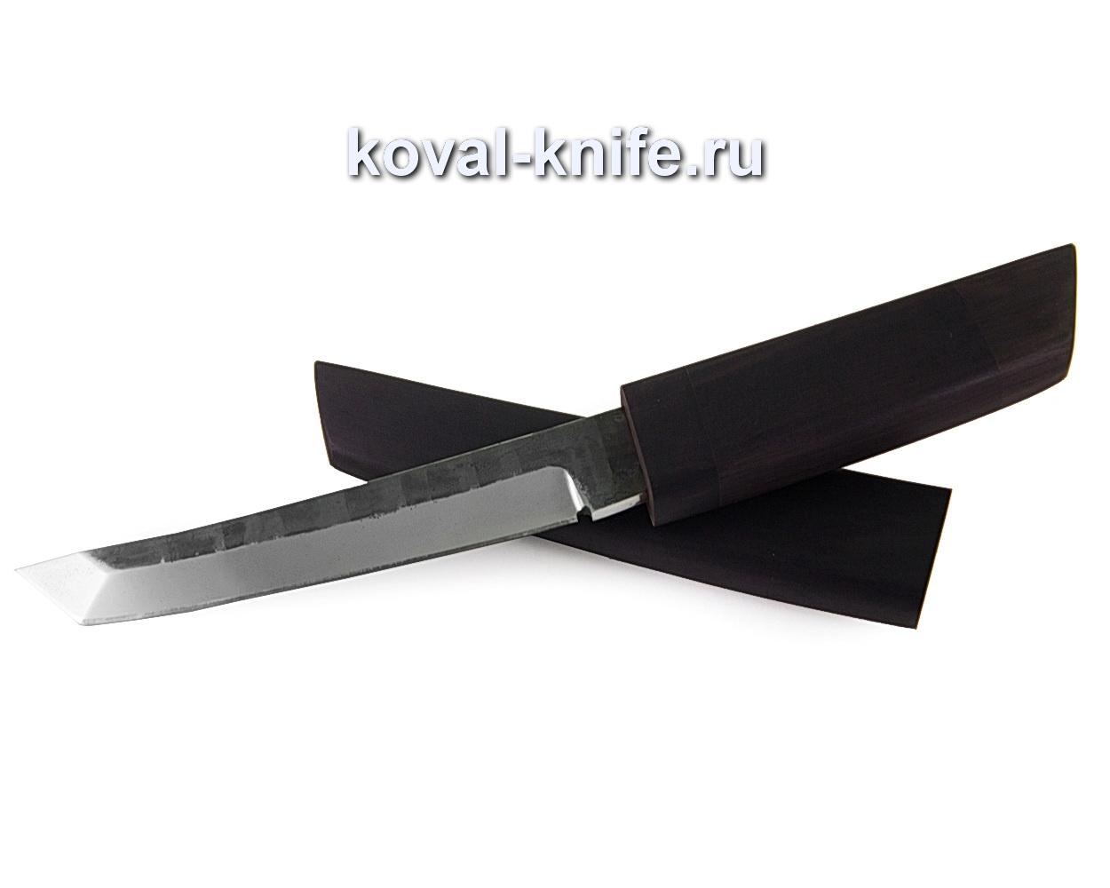Нож Танто (сталь 110х18), рукоять и ножны черный граб A346
