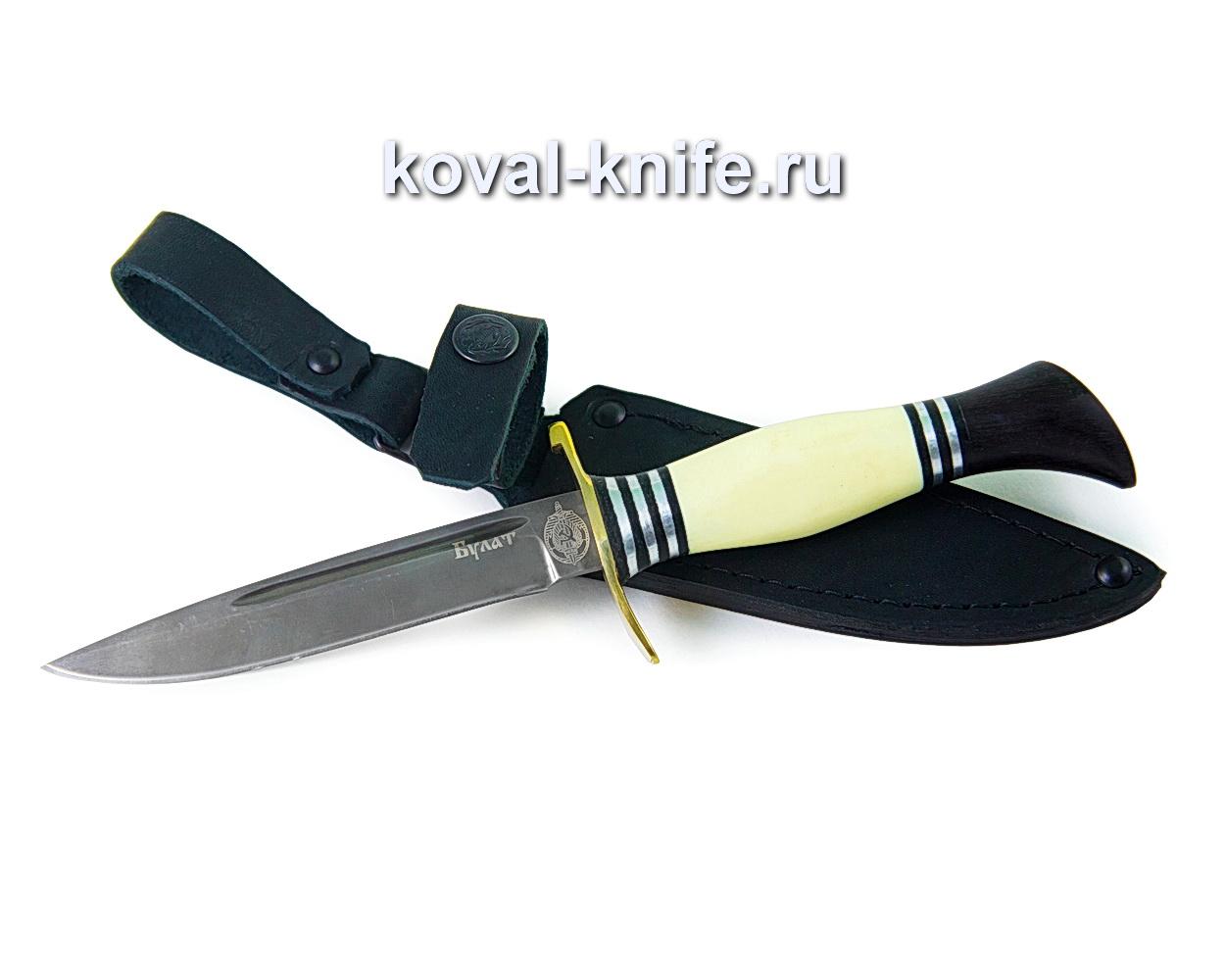 Нож Финка НКВД из булатной стали (рукоять пластик и граб) A381