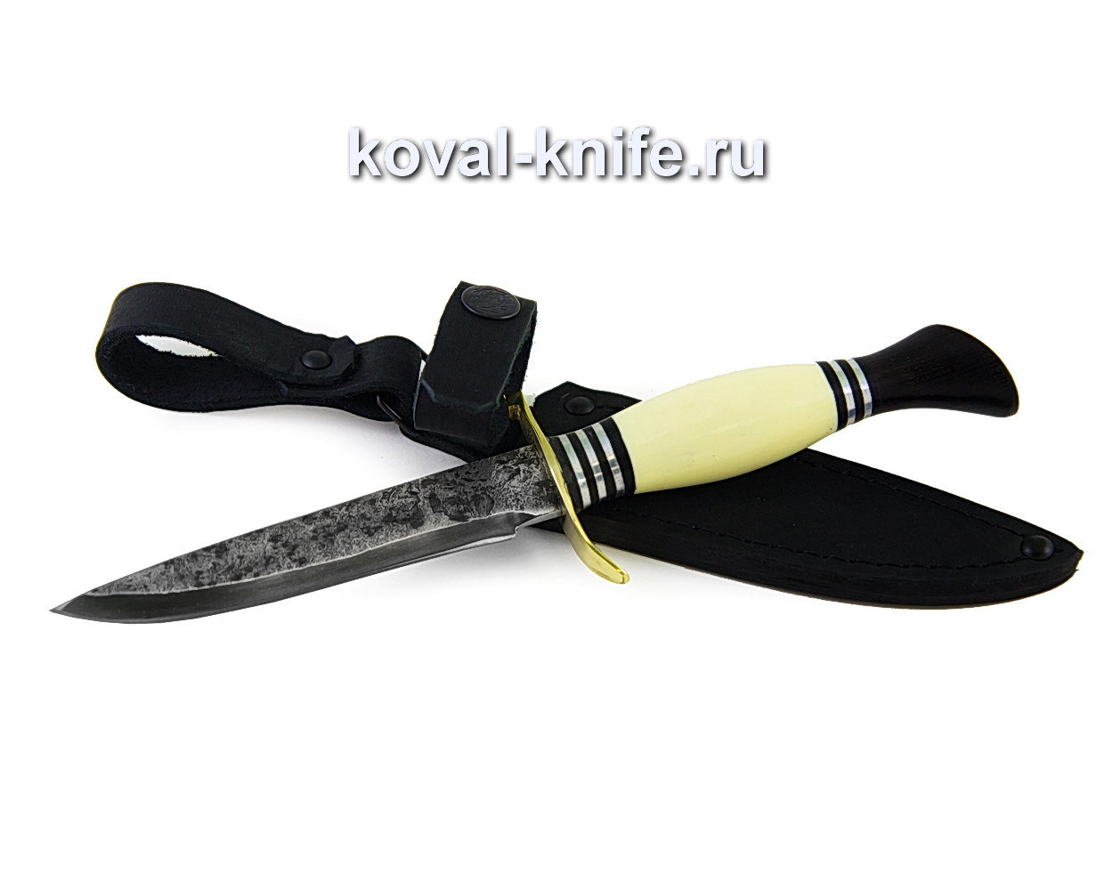 Нож Финка НКВД из кованой стали 9хс (рукоять пластик, граб) A373