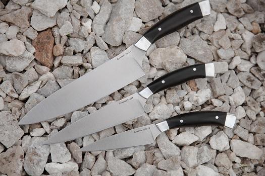 Набор кухонных ножей  из кованой стали 110Х18 3шт