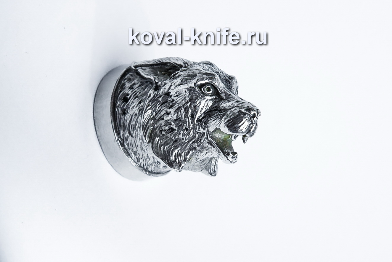Литье  для шампура 116 Голова – Рысь, круглое примыкание. Диаметр D 28мм.