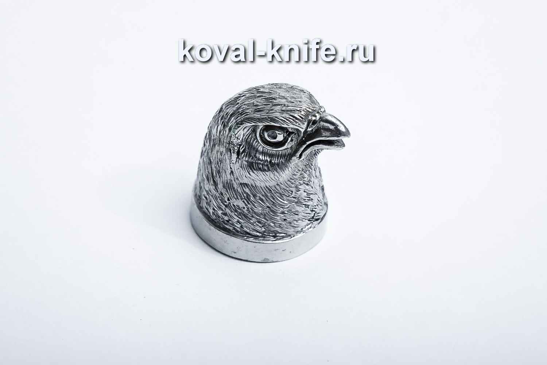 Литье для шампура 117 Голова – Птица, круглое примыкание. Диаметр D 28мм.