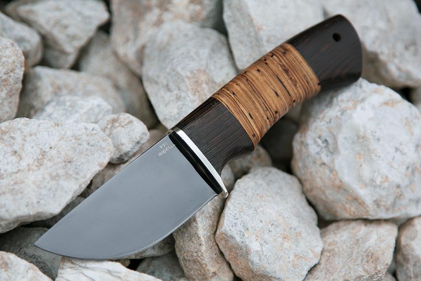 Нож Скин из стали У-10 (рукоять – венге, береста) А705