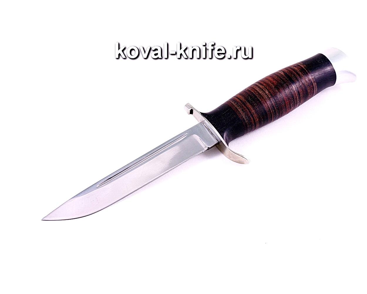 Нож Финка (сталь 95х18), рукоять граб, кожа, литье A113