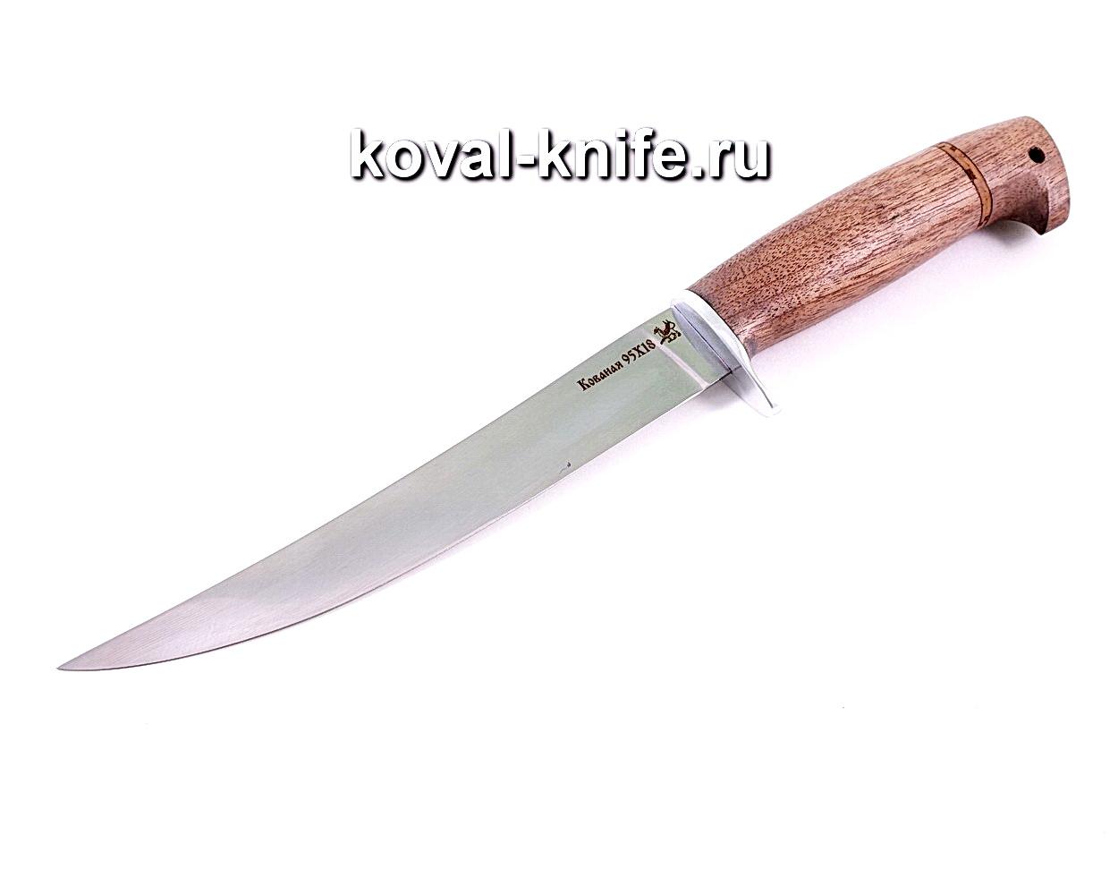 Нож Филейный (сталь 95х18), рукоять орех A137