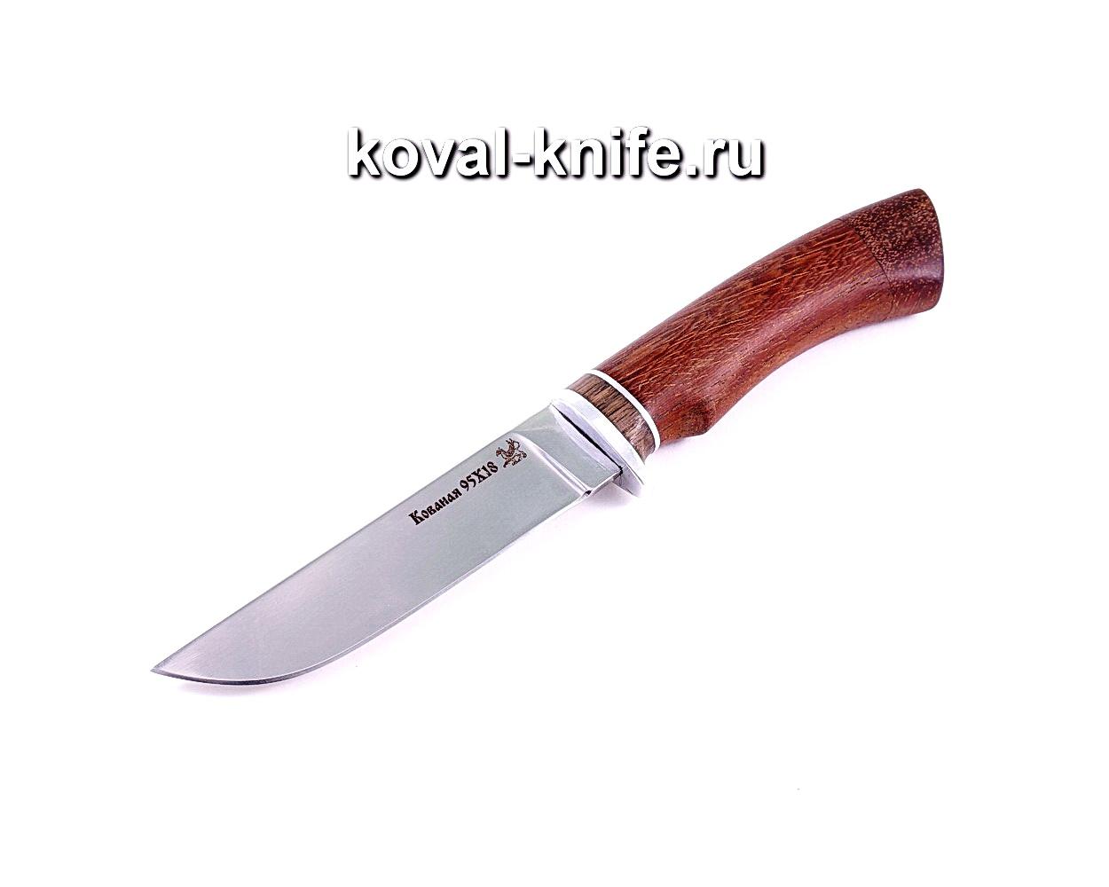Нож Белка (сталь 95х18), рукоять бубинга A021
