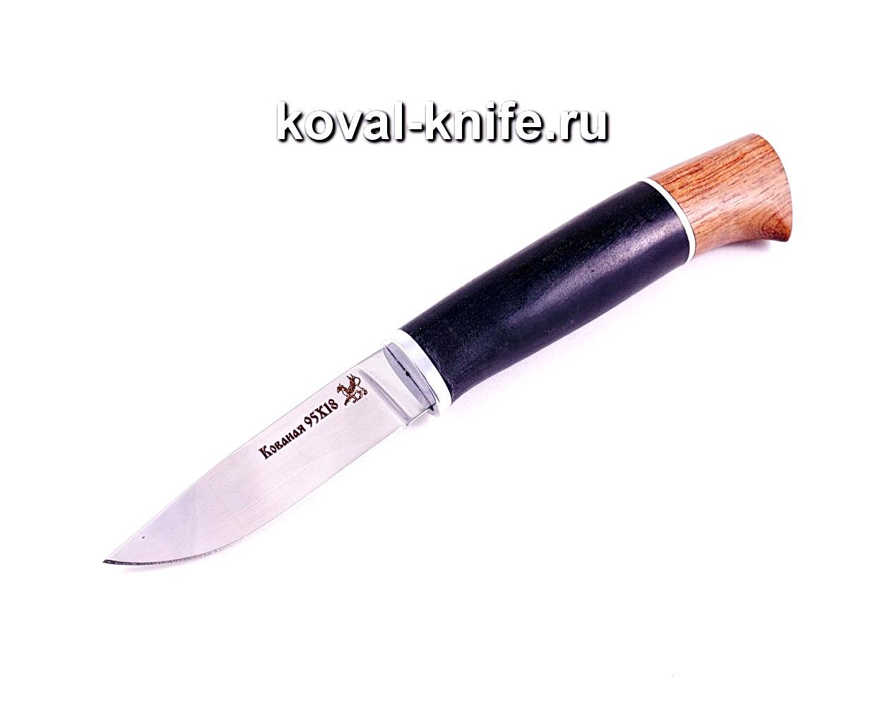 Нож Грибник (сталь 95х18), рукоять граб, бубинга A006