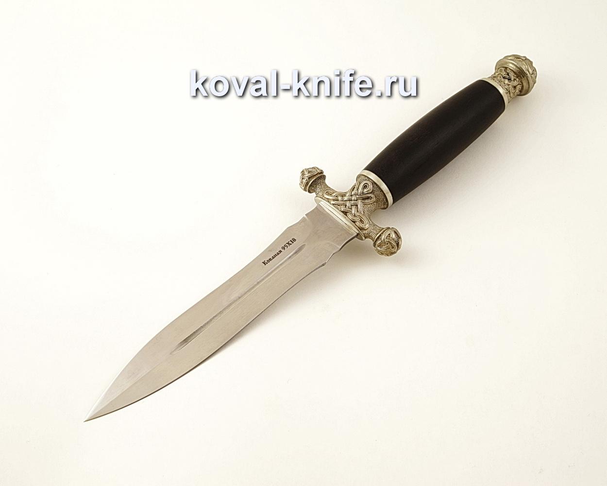 Нож Кардинал из кованой стали 95Х18 с рукоятью из черного граба A590