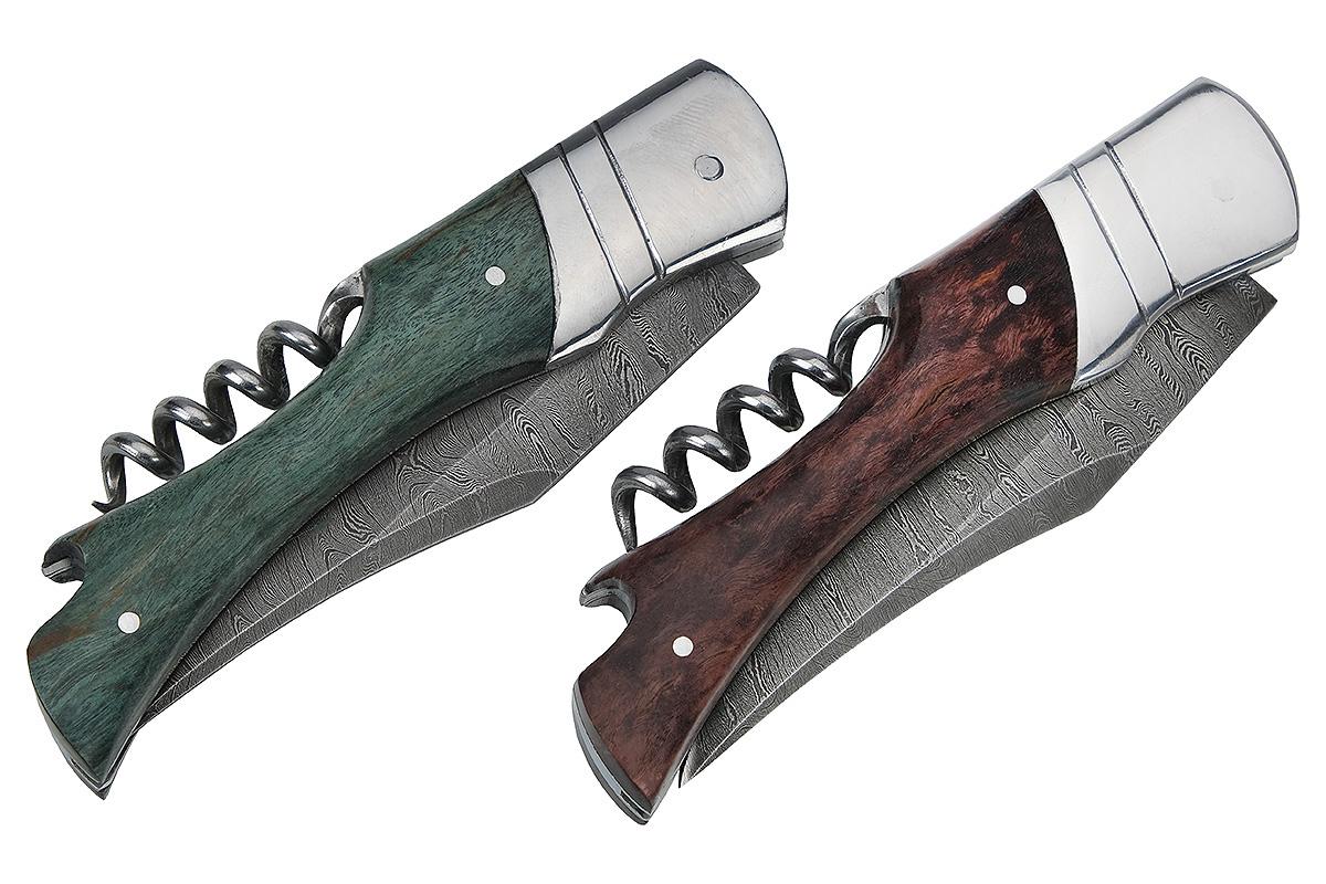 Складной нож из дамасской стали