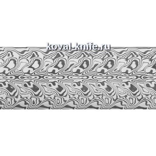 Заготовка для ножа из нержавеющей дамасской стали Damasteel DS93 Gysinge  размеры: 643х40х3мм.
