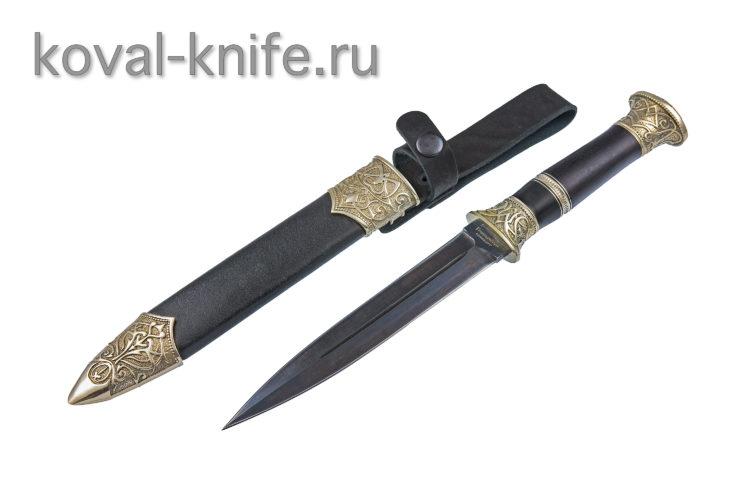 Нож Горец из Углеродистого композита с деревянными ножнами A663