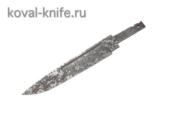 Клинок для ножа из кованой стали 95х18 с травлением Финка