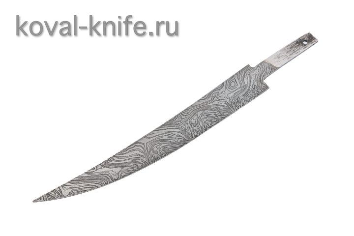 Клинок для ножа из Дамасской стали Филейный
