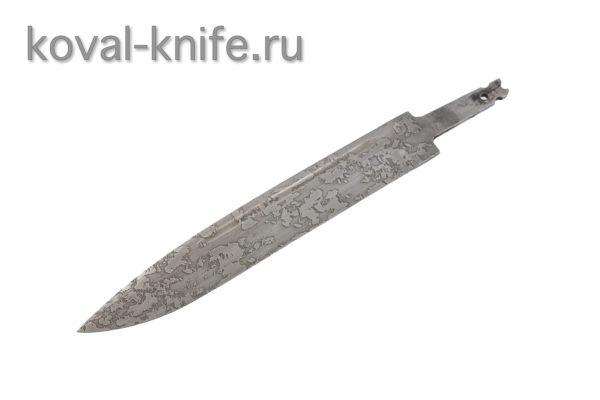 Клинок для ножа из стали 95х18 с травлением Вишня