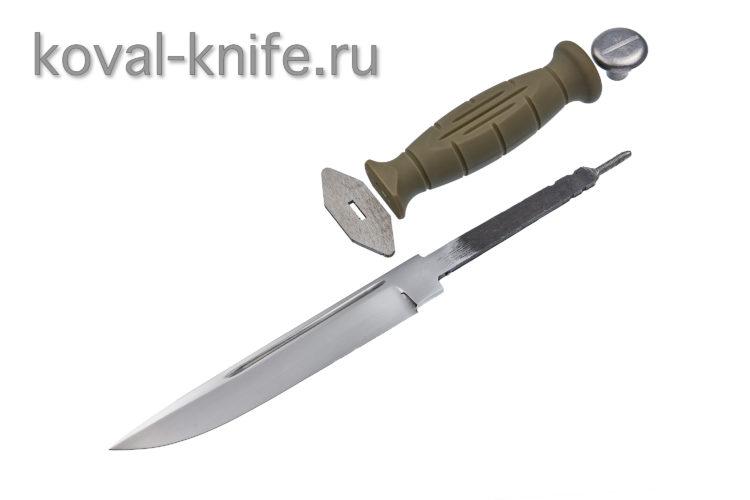 Комплект для ножа Финка (клинок кованая 95х18 3,5мм, гарда, тыльник, рукоять пластик)