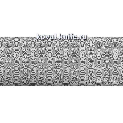 Заготовка для ножа из нержавеющей дамасской стали Damasteel DS93X Ladder размеры: 495х31х4мм.