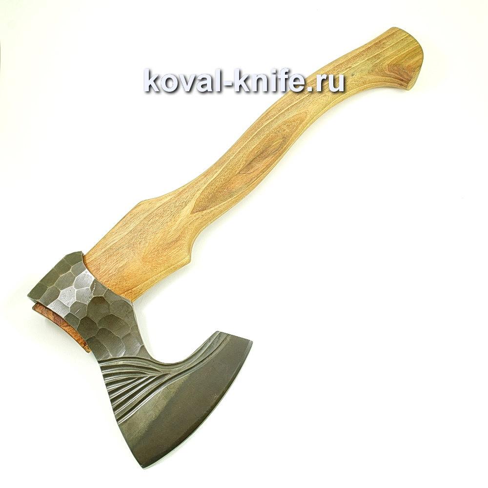 Топор ручной ковки из стали 9хс (рукоять дуб) A424