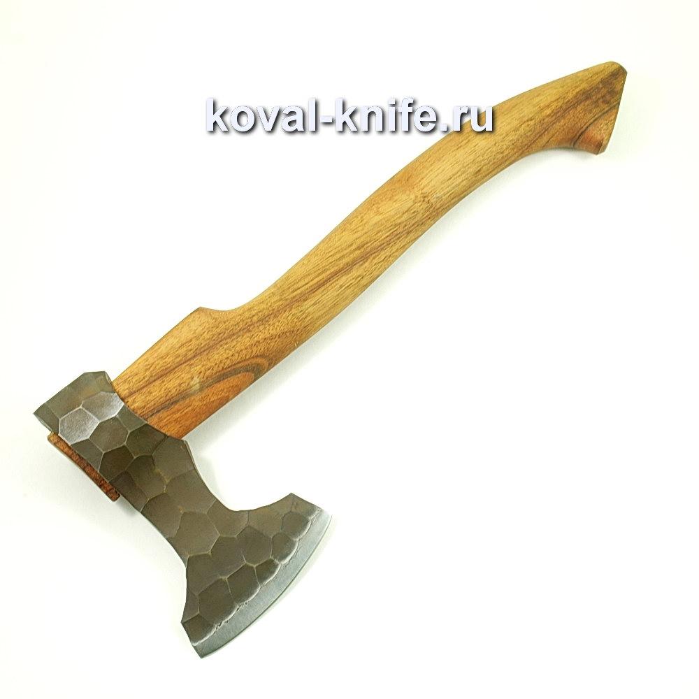Топор ручной ковки из стали 9хс (рукоять орех) A425