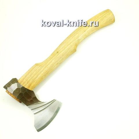 Топор ручной ковки из стали 9хс с рукоятью из дуба