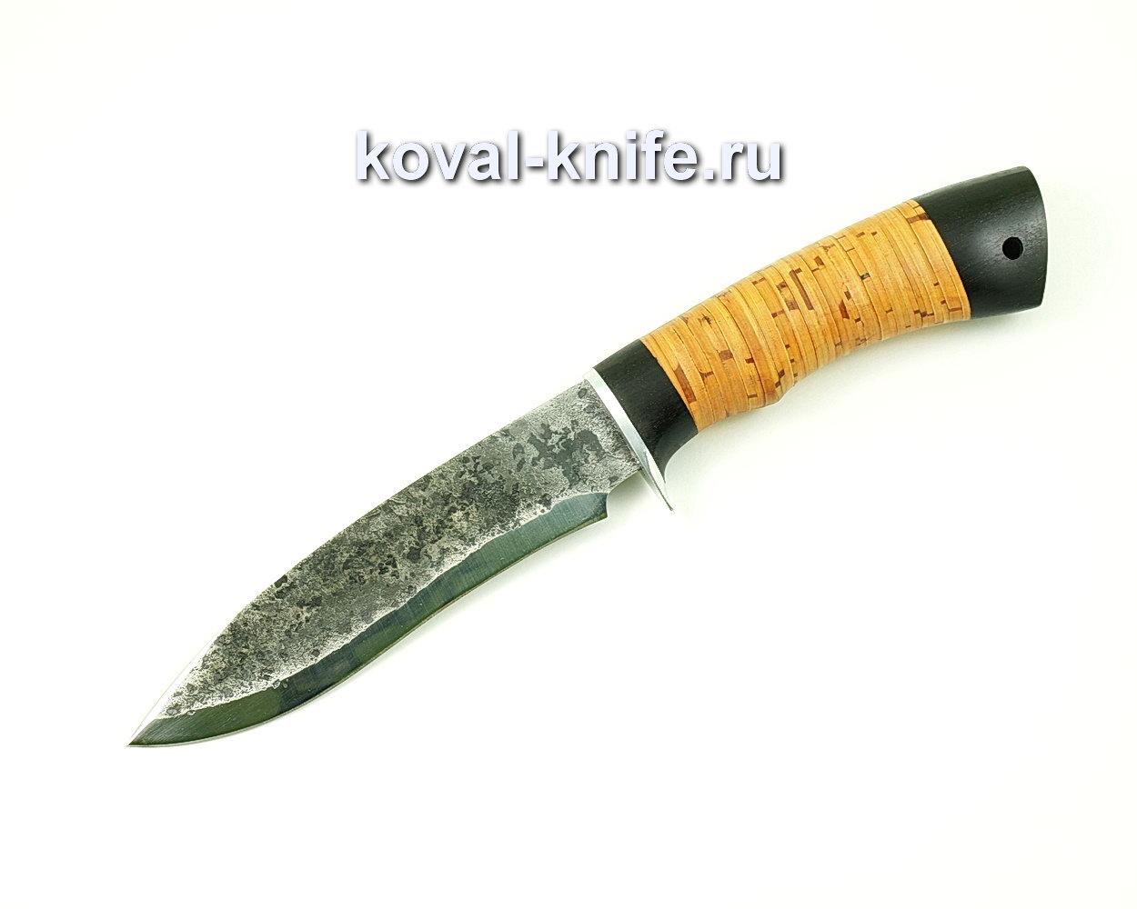 Нож Орлан из стали 9хс (рукоять береста, граб) A400
