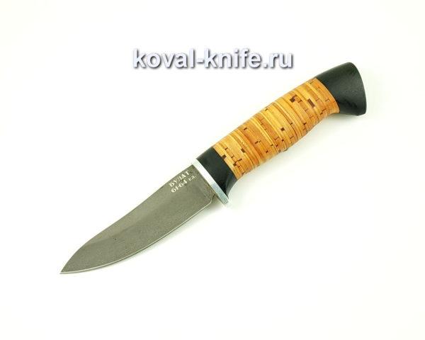 Нож Лань из булатной стали с рукоятью из бересты