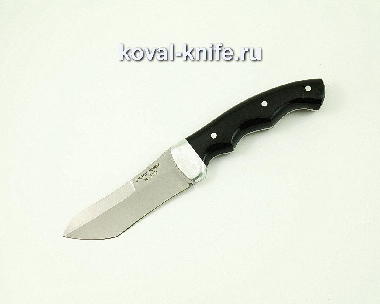 Нож Н1 из порошковой стали M390 (рукоять цельнометаллическая эбонит) A390