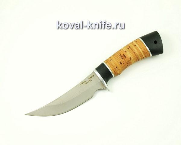 Нож Ворон из порошковой стали M390 с рукоятью бересты