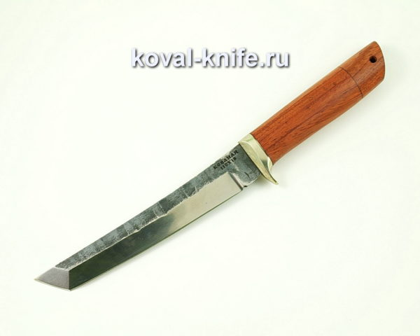Нож Танто из стали 110х18 с рукоятью из бубинги