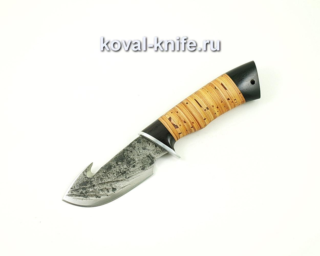 Нож Стропорез из стали 9хс (рукоять береста, граб) A403